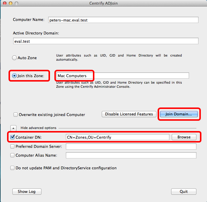 Install, configure and log in