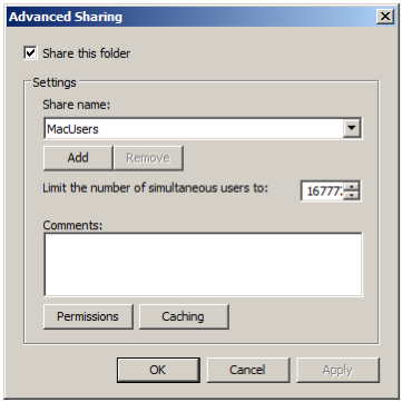 Setting shared directory permissions